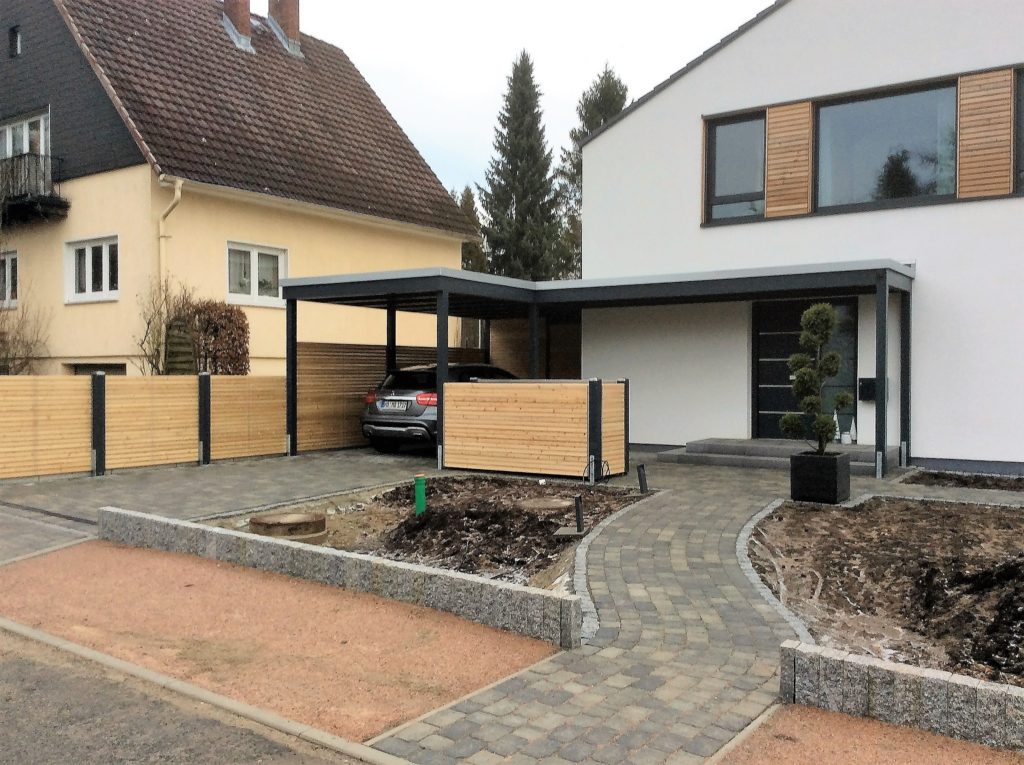 carport am haus awesome carport und haus sollten optisch. Black Bedroom Furniture Sets. Home Design Ideas