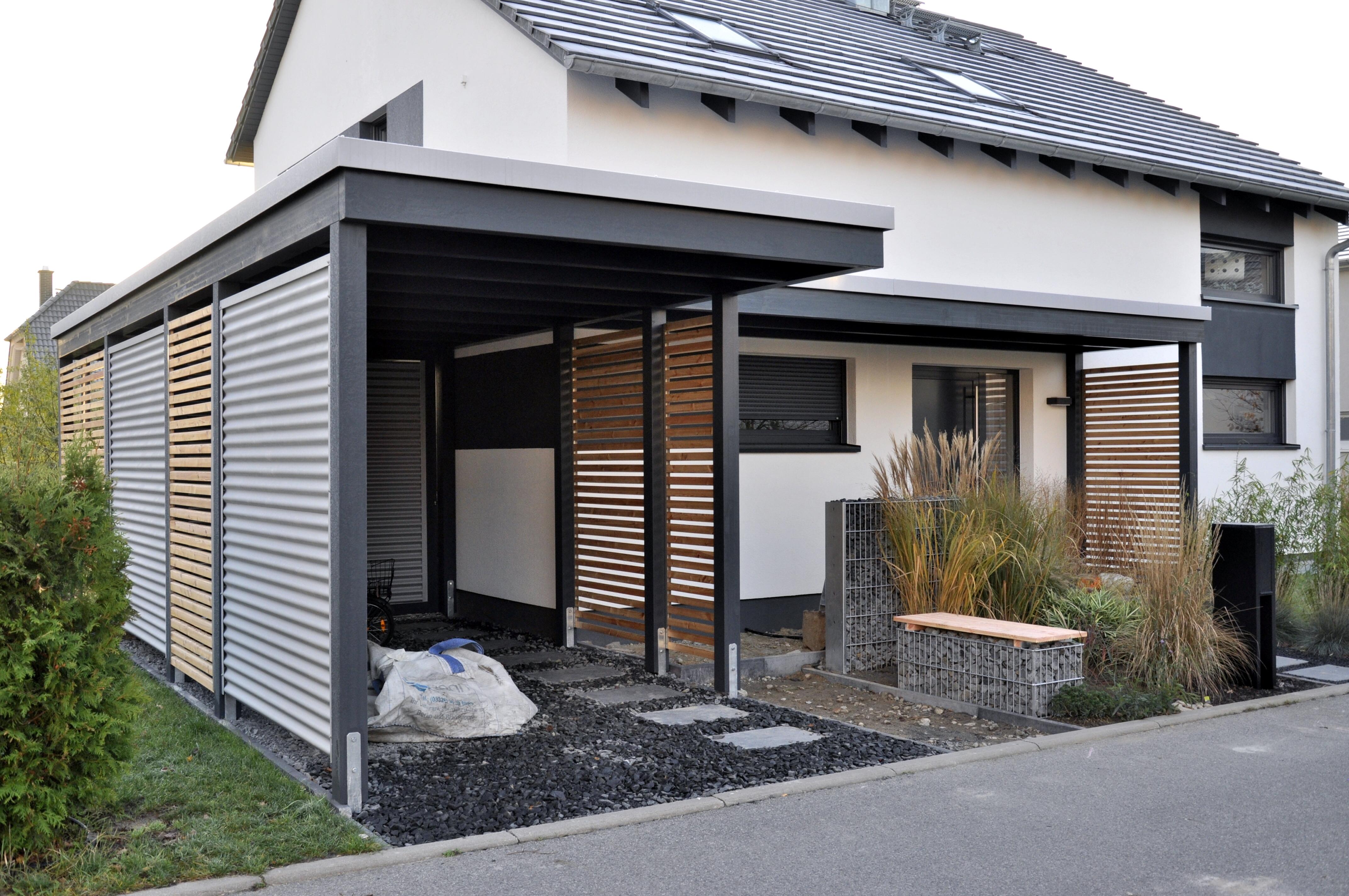 moderne einzelcarports im individuellen design carporthaus. Black Bedroom Furniture Sets. Home Design Ideas