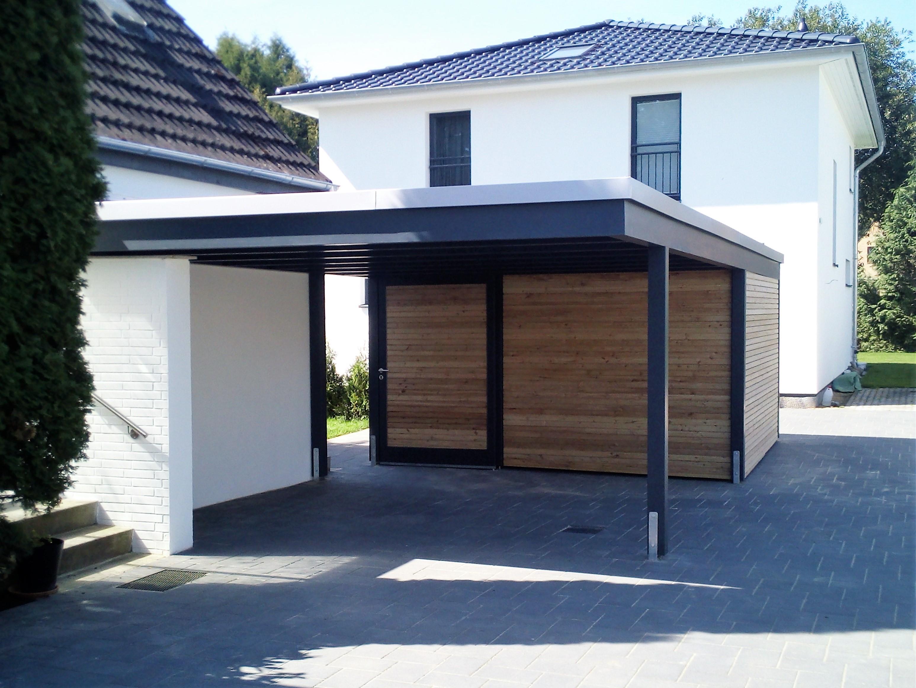 moderne designcarports 2 carporthaus. Black Bedroom Furniture Sets. Home Design Ideas