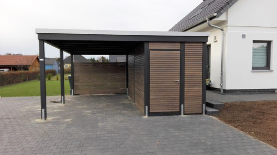 moderne einzelcarports im individuellen design carporthaus. Black Bedroom Furniture Sets. Home Design Ideas